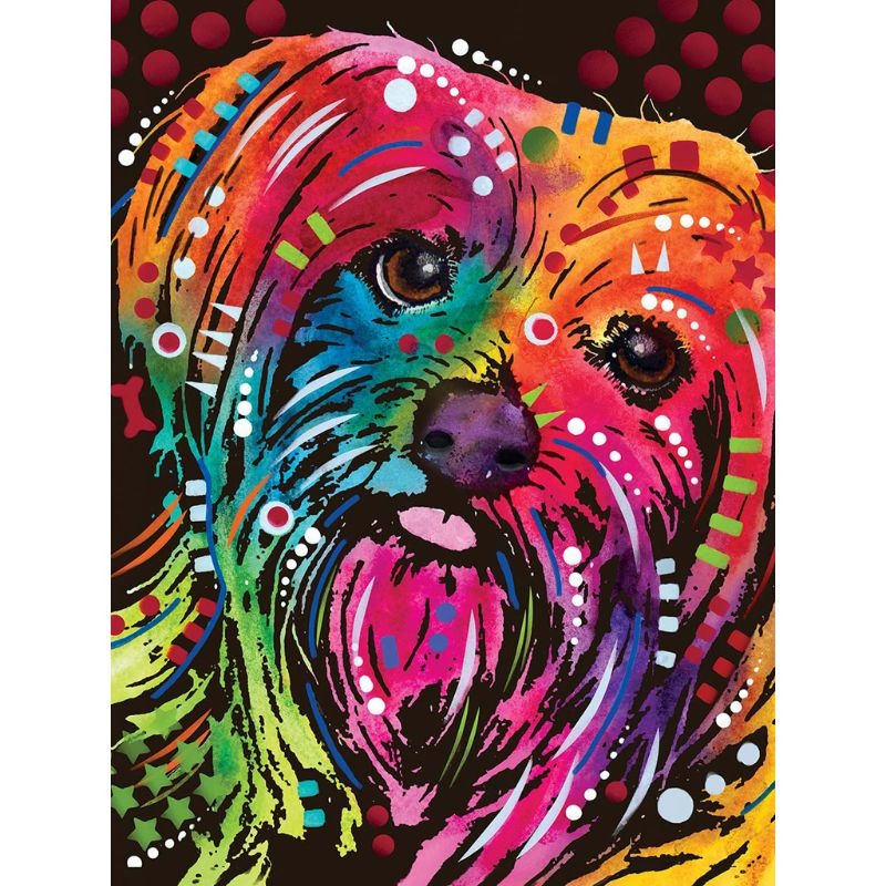 5D DIY Full Drill Diamond Painting Naughty Dog Cross Stitch Embroidery Kits #ORP