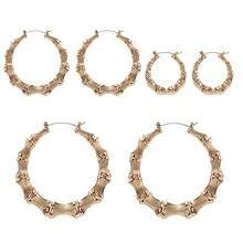 Набор женских сережек в виде колец геометрической формы 3 размера