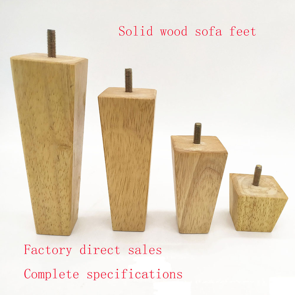 Chair 100mm 4pcs Furniture Risers Bed Lifter Tapered Square Leg Feet for Sofa