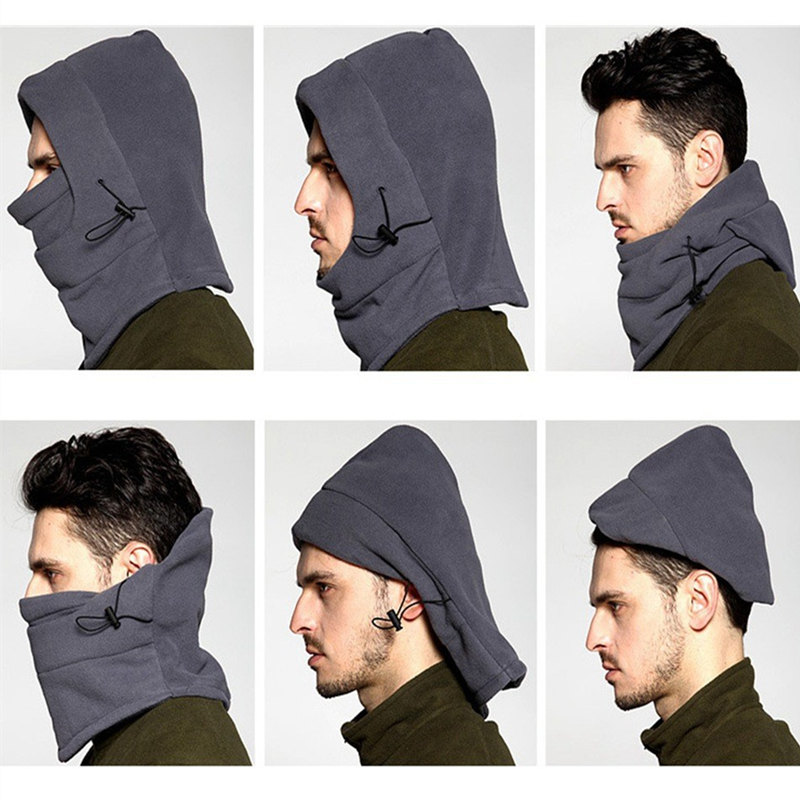2019 Wholesale Winter Men Women Polyester Thermal Fleece Hood Wind Stopper Safety Mask Workplace Safety Supplies Accessories