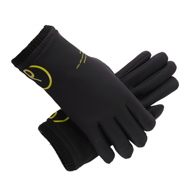 Men Male Fashion Genuine Leather Gloves Winter Windproof Waterproof Warm Touch Screen Outdoor Mountaineering Camping Gloves