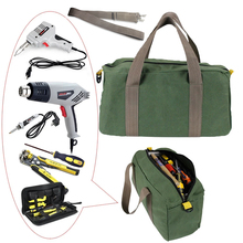 Large Capacity Tool Bag Multifunction Waterproof Oxford Canvas Hand Tool Storage Carry Bags Portable Metal Toolkit Organizer