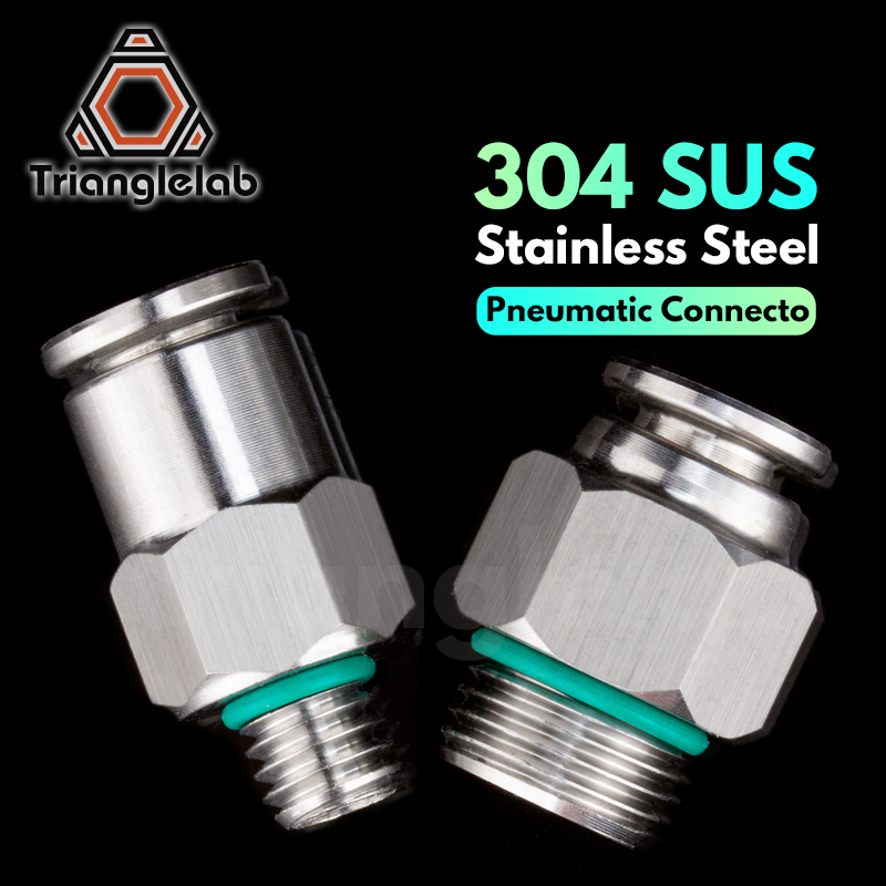 Trianglelab 304 SUS Stainless Steel Full Metal Pneumatic Connecto FittingsG1/8