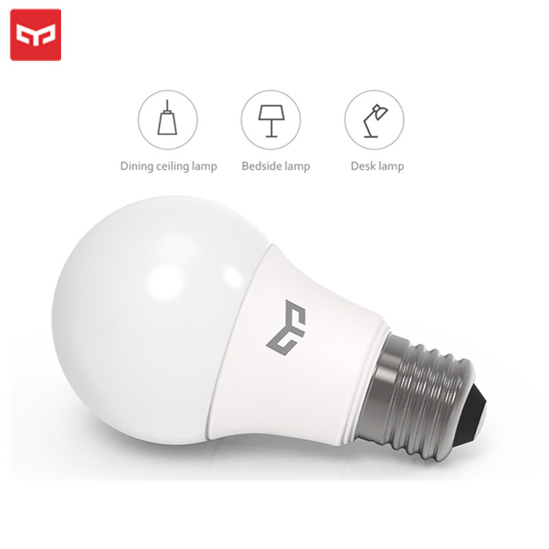 YEELIGHT E27 LED Bulb 220-240V 5W/7W/9W 6500K For Ceiling /Table Lamp/ Lamp 120 Degree LED Lamp Eye-Protection 25000H Lifespan