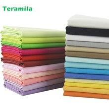 Teramila綿生地 25 固体色チャームは脂肪四半期計ホームテキスタイル寝具キルティングパッチワーククラフト服