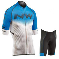 2020 NW the latest in bicycle clothes quick drying jersey for men bicycle suit shirt team gel bike shorts set-في مجموعات الدراجات من الرياضة والترفيه على