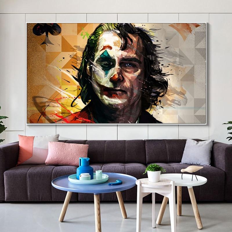 Duvar dekorasyon suluboya film portre posteri baskı duvar sanatı tuval yağlıboya joker joaquin phoenix resim odası dekor için