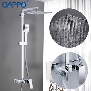 Image 4 - GAPPO Dusche System bad dusche wasserhahn wasserhahn bad mischer badewanne wasserhahn set wasserfall dusche set chrome regen dusche kopf