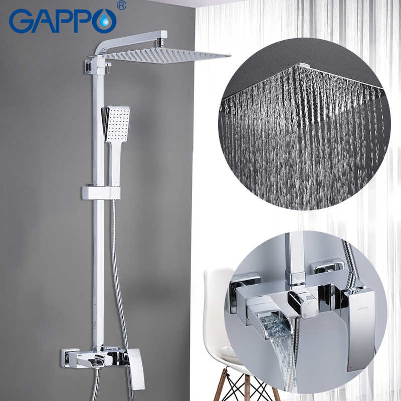 GAPPO system prysznicowy prysznic kran do łazienki bateria wannowa bateria do wanny zestaw prysznic wodospad zestaw chromowana deszczownica