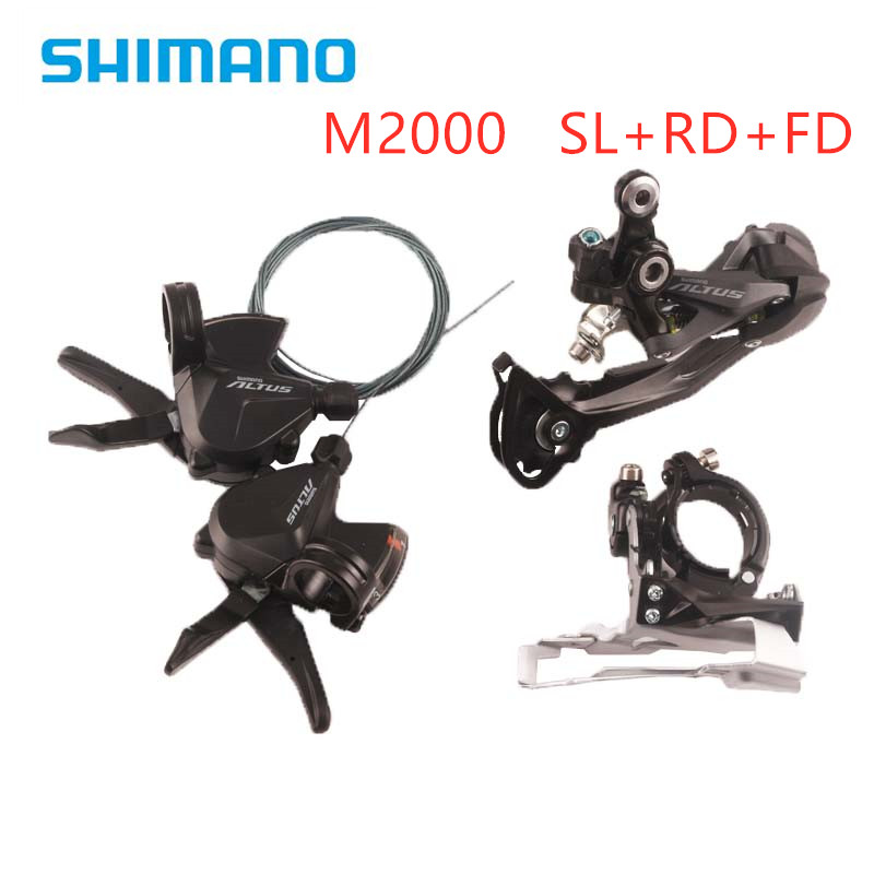 Shimano Altus Front Derailleur FD-M371 and Gear Shifter SL-M370 Bike Bicycle