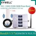 Четырехполосная 900/1800/2100/2600 МГц Сотовая связь Усилитель 2g  3g  4g  900/1800/2100/2600 усилитель сигнала мобильного телефона DCS WCDMA LTE GSM регенератор сигна...