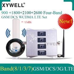 Четырехполосная 900/1800/2100/2600 МГц Сотовая связь Усилитель 2g, 3g, 4g, 900/1800/2100/2600 усилитель сигнала мобильного телефона DCS WCDMA LTE GSM регенератор сигна...