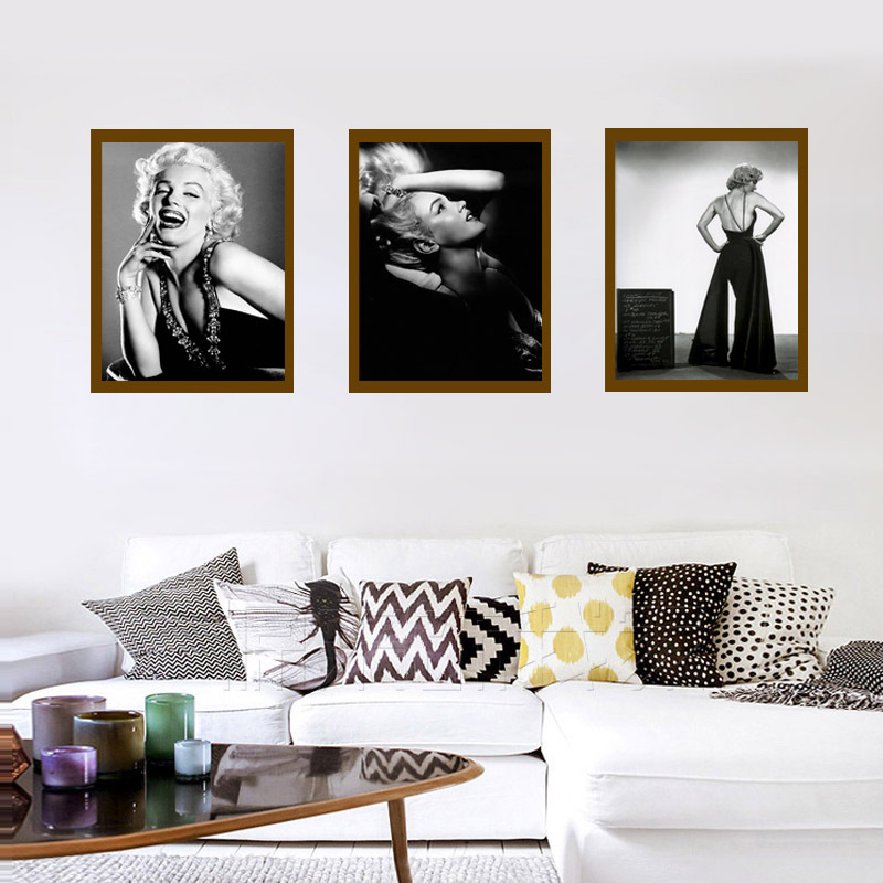 New classic black and white actress poster decorative painting frameless home decoration wall painting painting core image