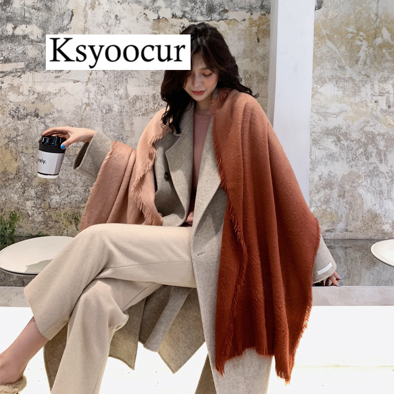 Size 200*55CM, 2020 New Autumn/Winter Long Section Cashmere Fashion Scarf Women Warm Shawls And Scarves Brand Ksyoocur E15