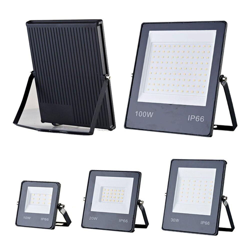 AC165-265V de iluminación LED para exteriores, reflector ultrafino de 10W, 20W, 30W, 50W y 100W, lámpara de calle para pared y jardín