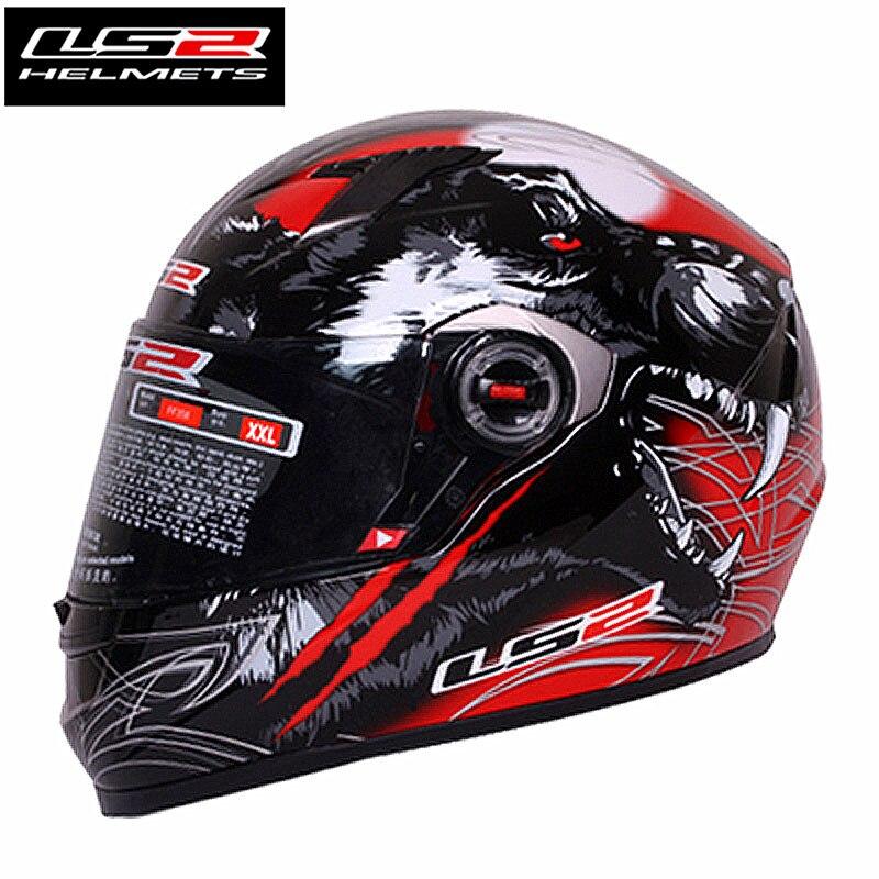 LS2 FF358 Samurai Completa Rosto capacete de moto rcycle Mulher Wan casco moto capacete capacetes de moto cruz Com Respirável almofadas Interior