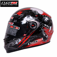 LS2 FF358 Samurai Full Face motorcycle helmet Woman Wan capacete motocross helmets With Breathable Inner pads casco moto