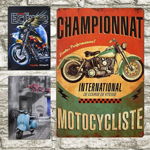 30X20cm Vintage Triumph de metal para motocicleta signos Vespa Electrocar arte de pared Placa de pintura coche garaje tienda salón Tin Poster H9