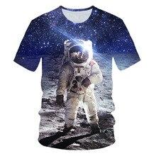 2019 Summer 3D T-shirt Men Space Astronaut Planet Balloon Print Tees Shirt Boys Girl Short Sleeve Casual Fashion Cool Tops