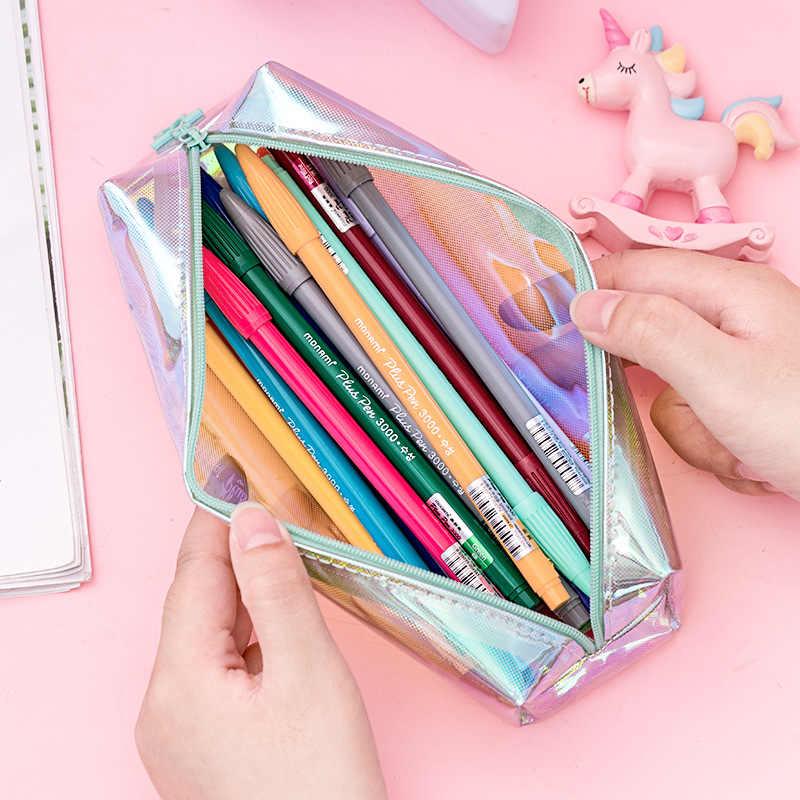 玉虫色レーザー pupencil ケース品質学用品 bts 文具ペンケース学校かわいい筆箱学校ツールギフト