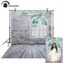 Allenjoy 사진 배경 흰색 벽돌 벽 창 나뭇 가지 봄 배경 스튜디오 어린이 공주 소녀 econ 비닐 photophone