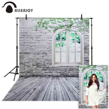 Allenjoy photography background white brick wall window Twig spring backdrop studio children princess girl econ vinyl photophone