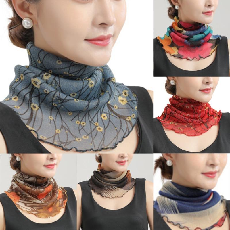 Сезон: весна-лето шифон с круглой горловиной шарф для женщин тонком защищающий от солнца Variety маленький шелковый шарф с защитой от ультрафио...
