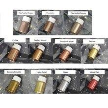 11 cores metálico resina epóxi pigmento mica metálica pós resina corante corante b36d