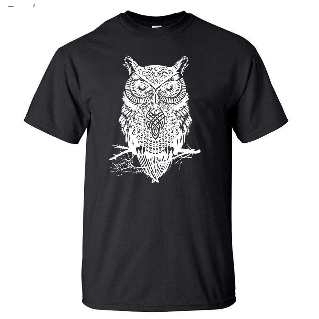 Animal T-Shirt 2018 personnalité unisexe respirant T-Shirt hibou Fitness Original hommes T-Shirt T-Shirt haut T-Shirt marque-vêtements col rond