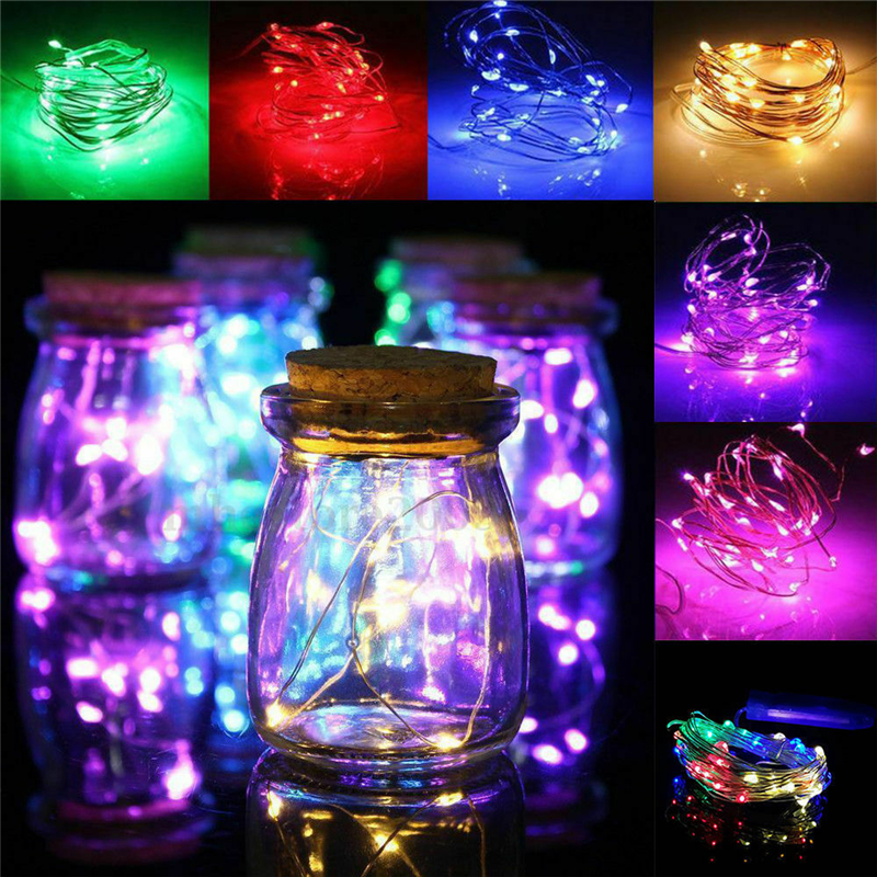ZANCAKA Christmas Lights Garland LED String Fairy Light Battery Operated Decorative LED Lights Street Wedding Party Decoration
