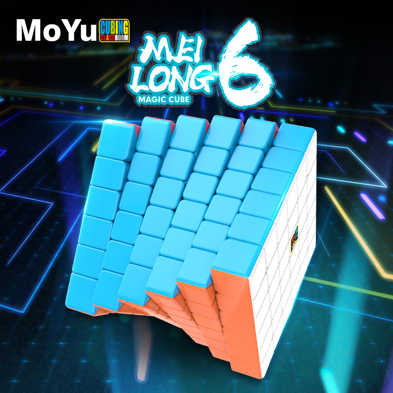 MoYu Meilong6 Original Mofang Jiaoshi Cube 6x6x6 Magic Cube Layers 6x6 Speed Puzzle Cubes Game Mini Size Educational Toys