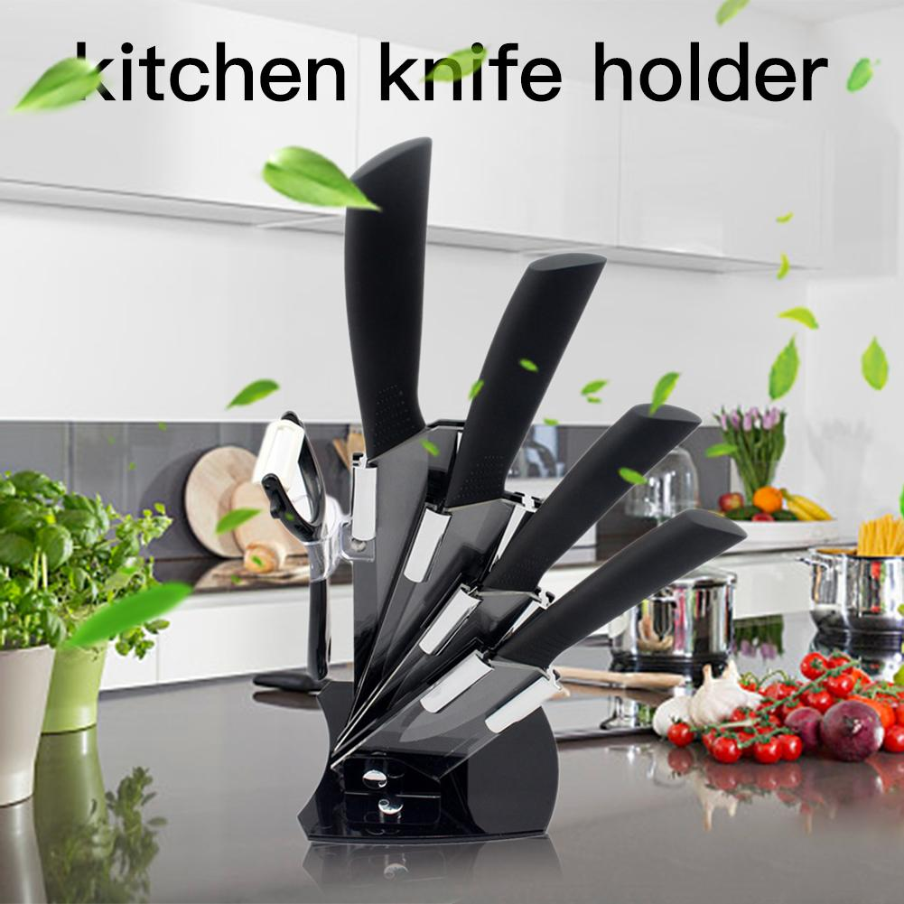 Knife Tool Holder Stainless Steel Kitchen Knife Storage Set Fruit Cut Practical Chef Cutting Kitchen Accessories