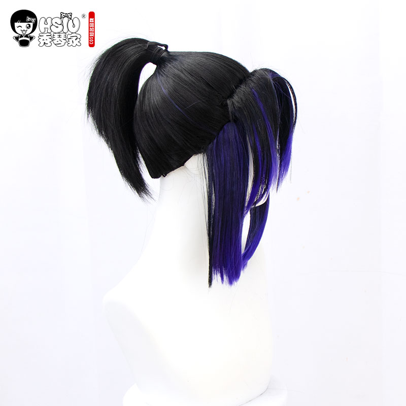 Image 5 - HSIU Kochou Shinobu Аниме Косплей Костюм парик Demon Slayer: Kimetsu no Yaiba кимоно униформа плащ Хэллоуин градиент волос парик.Костюмы для девочек    АлиЭкспресс