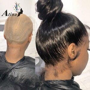 Image 2 - 13x6 תחרה מול שיער טבעי פאות Loose עמוק גל Glueless מלא תחרה פאה 360 תחרה פרונטאלית פאה מראש קטף עם תינוק שיער 150% רמי