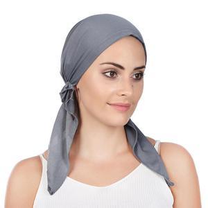 Аксессуары для волос, повязка на голову, предварительно связанный шарф Шапочка при химиотерапии, Шапка-тюрбан, головной убор, головной плат...