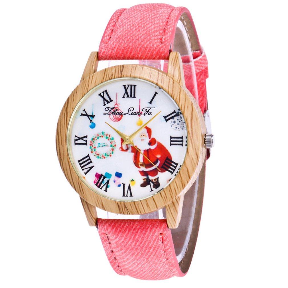 Fashion Watch  Men Watch Quartz Strap Top Brand Lady's Wooden Side Cowboy Belt Lady Watch Christmas Gift Clock