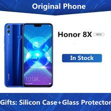Сотовый телефон Honor 8X, 4G LTE, Kirin 710, Android 8,1, FHD экран 6,5 дюйма 128 х1080, 6 ГБ ОЗУ Гб ПЗУ, сканер отпечатка пальца, быстрая доставка DHL