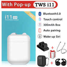i11 TWS Earphones Wireless Bluetooth 5.0 Sport Earbuds With Accessories Leather Case For i12 i9s i200