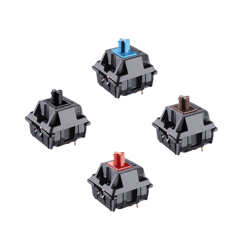 8 Pcs Chery Shaft Mechanical Keyboard MX Tripod Black Shell Switch Mx Brown Blue Red Switch 3 Pin Feet Cherry Mx Clear Switch