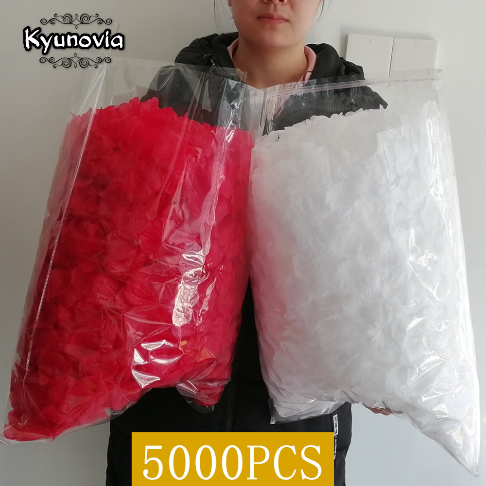 Kyunovia One By One Separated Petal 5000pcs Rose Petals Petalos De Rosa Wedding Decoration Artificial Fabric Wedding Rose Petals