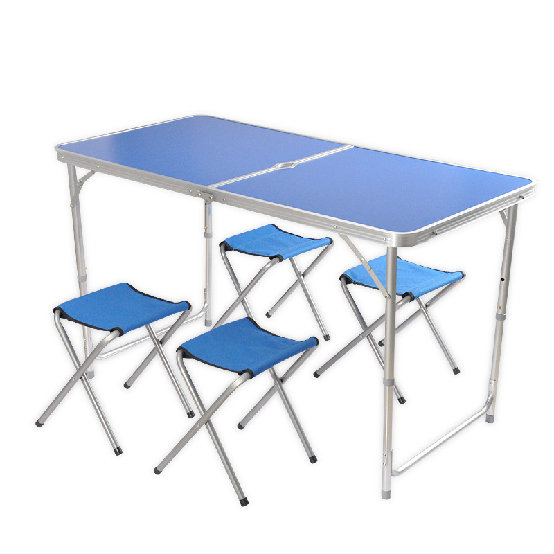 1.2 M Tube Portable Aluminium Alloy Foldable Dining Table Folding Tables And Chairs Picnic Table Bai Tan Zhuo Manufacturers Whol
