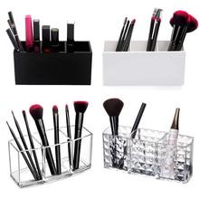 Makeup Brush Holder Makeup Organizer Cosmetic Storage Box Lipstick Eyebrow Pencil Display Stand Acrylic Transparent Plastic Box