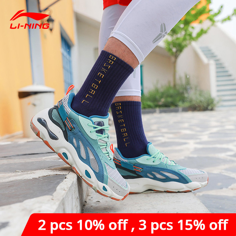 Li-Ning <font><b>Men</b></font> BUTTERFLY 2018 LITE Stylish Leisure <font><b>Shoes</b></font> Support Cow Leather <font><b>LiNing</b></font> li ning Sport <font><b>Shoes</b></font> Sneakers AGLP069 YXB291 image