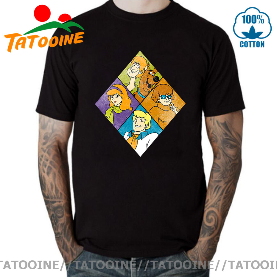 Tatooine Geek Retro Scooby Doo T shirt men Nerd TV Show Popular Art Supernatural T-shirt Vintage SCooby Dog Shirt homme camiseta image