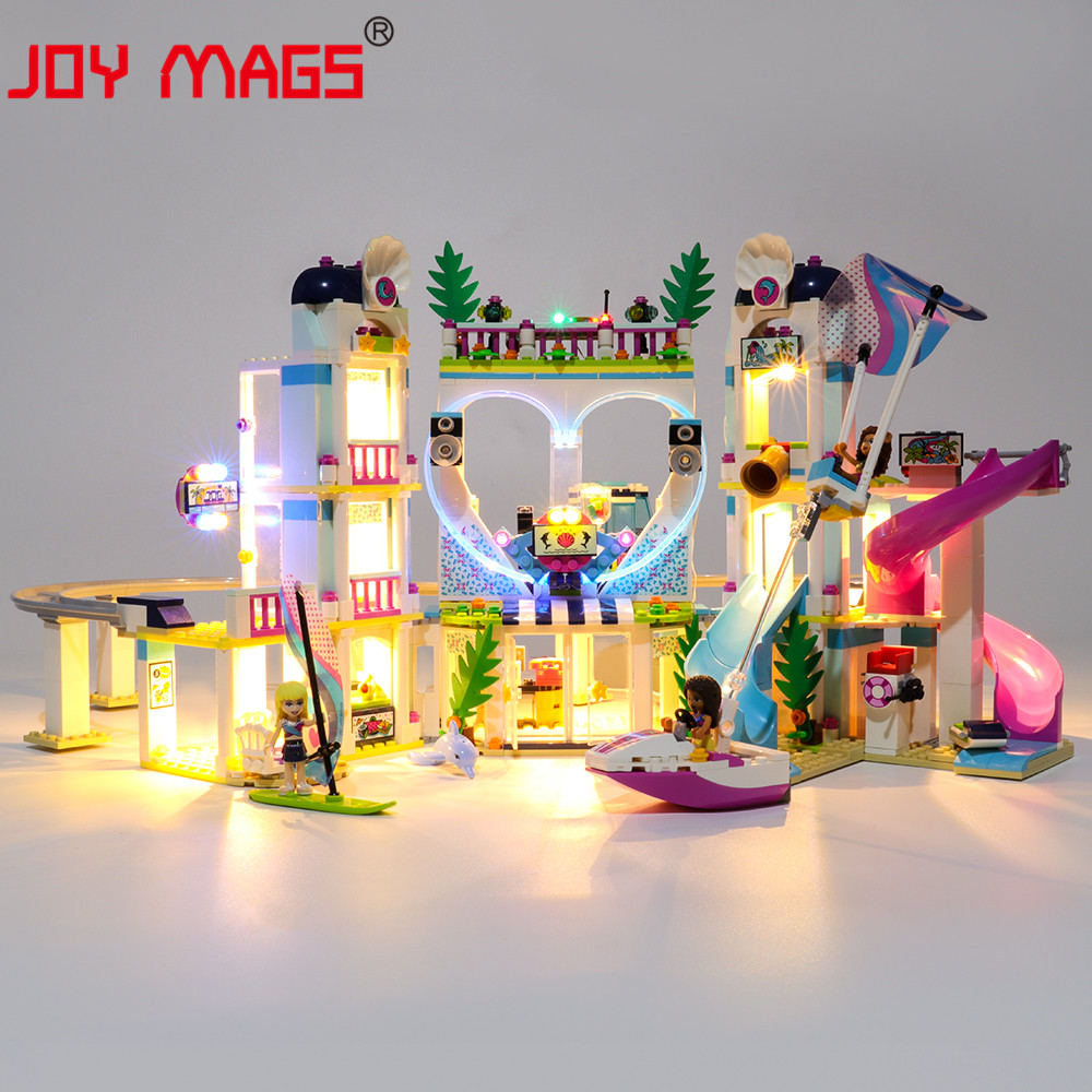 JOY MAGS Only Led Light Kit For 41347 Friends Series Heartlake City Resort Lighting Set Compatible With 01068/37086/11035