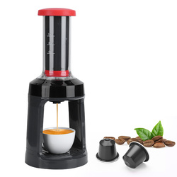 K-Cup Automatic Pressing Coffee Machine Capsule Coffee Maker Espresso Brewer Manual Hand French Press Cafetera