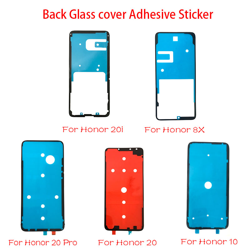 2Pcs Adhesive Sticker Back Housing Battery <font><b>Cover</b></font> Glue Tape For Huawei <font><b>Honor</b></font> 9 10 <font><b>8X</b></font> 9X 20 20i Nova 3 4 P30 Pro P10 P20 Lite image