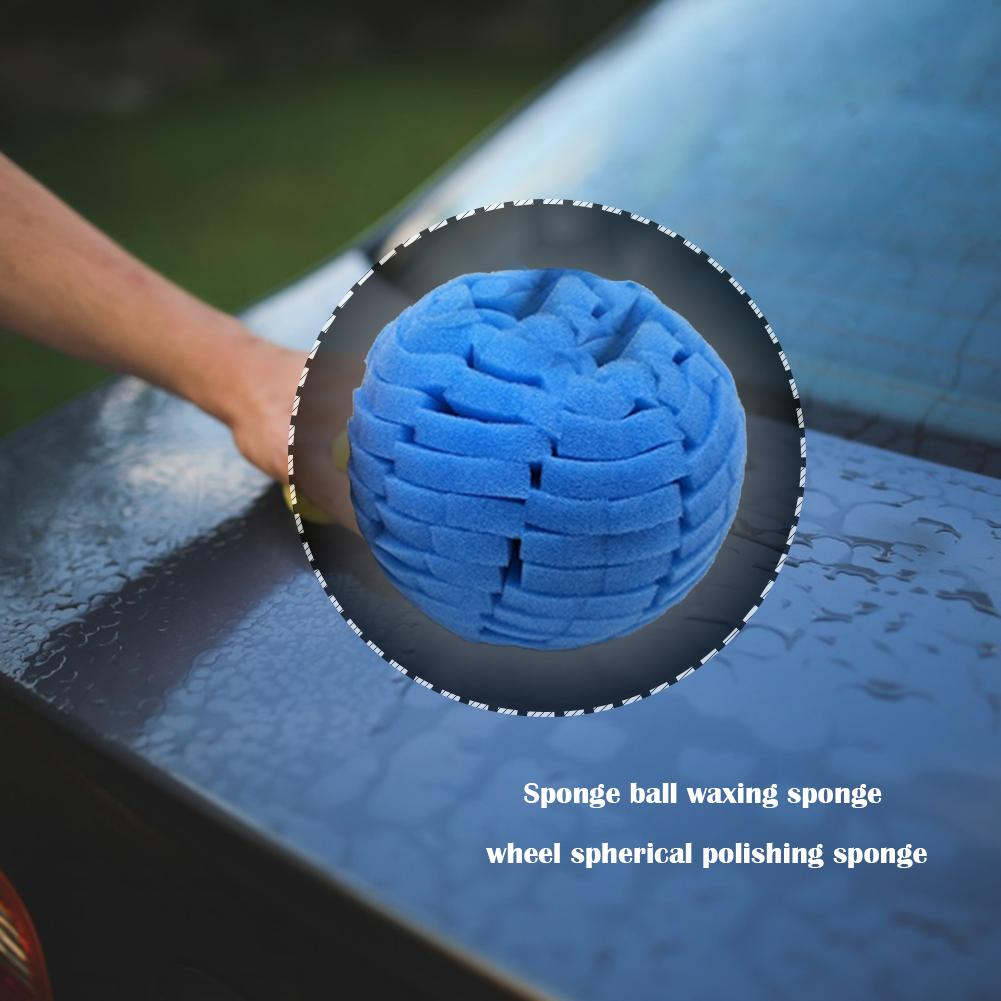 Round Car Polishing Sponge Ball Vehicle Waxing Buffing Grinding Polishing Wheel Practical Operation Simple Conveninently