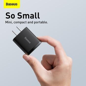 Сетевое зарядное устройство Baseus с двумя USB-портами и поддержкой быстрой зарядки, 20 Вт 6