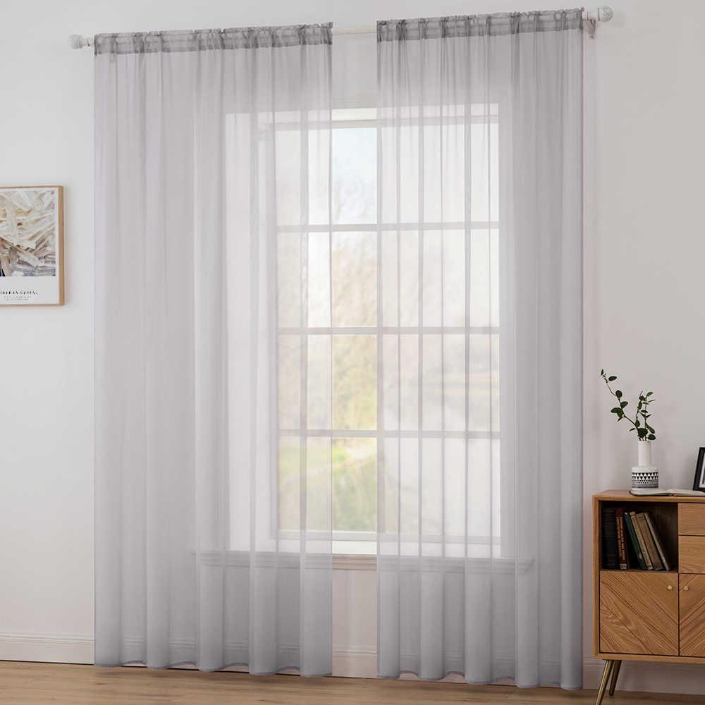 miling gris rideaux transparents rideaux decoratifs pour fenetres moderne salon rideaux cuisine porte rideaux cantonniere rideaux